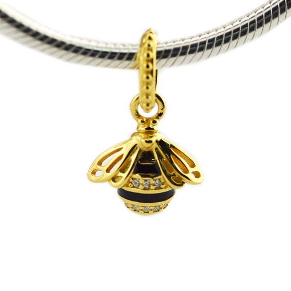 Queen bee pendant 100 925 sterling silver shine 18k gold etsy image 0 aloadofball Choice Image