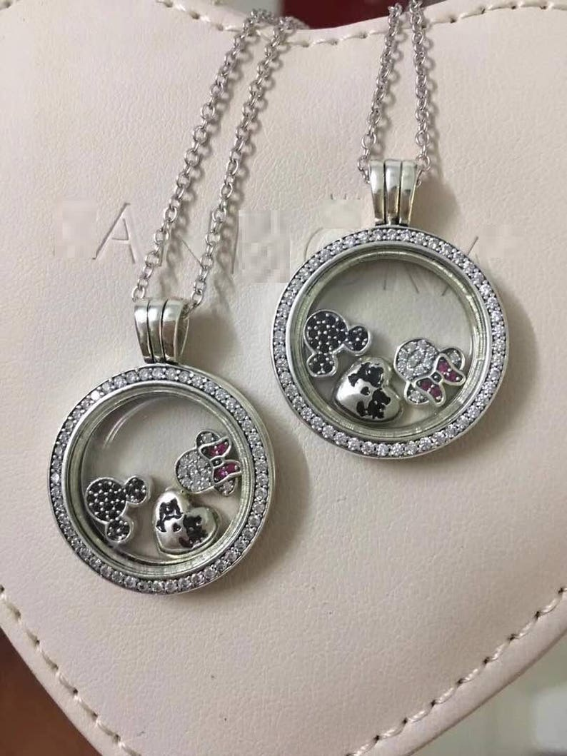 ee9038b5c Sparkling Locket Medium With Disney Petites Charms 100% 925 | Etsy