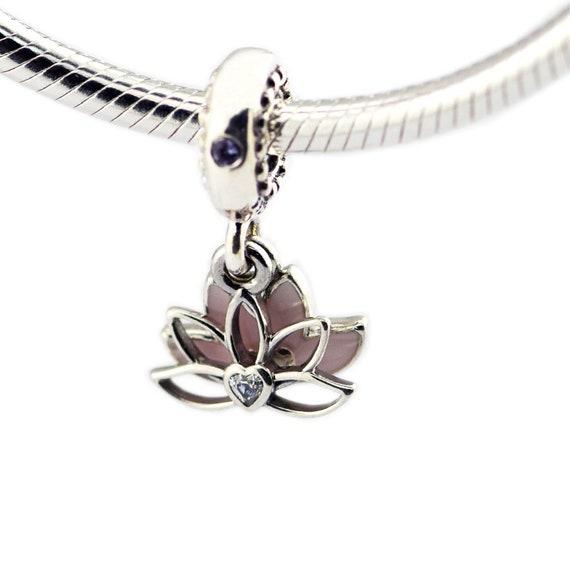 e78c83cb8 Serene Lotus Flower Hanging Charm 100% 925 Sterling Silver | Etsy