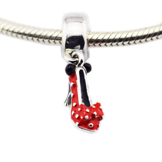 Disney Minnie Mouse Shoe Charm 100 925 Sterling Silver With Etsy