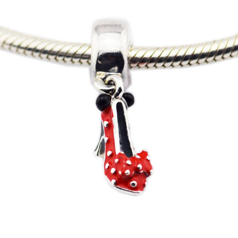 a3976339c Disney Minnie Mouse Shoe Charm 100% 925 Sterling Silver with   Etsy