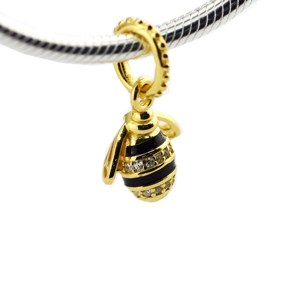 898afe7eb Queen Bee Pendant 100% 925 Sterling Silver & Shine™ 18K Gold   Etsy