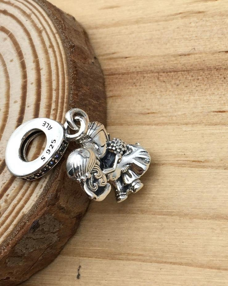 Married Couple Dangle Charm, 100% 925 Sterling Silver & CZ, fits to Pandora  Charm Bracelets