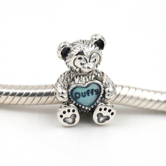 Disney Duffy Bear Charm 925 Sterling Silver With Enamel Fits Etsy