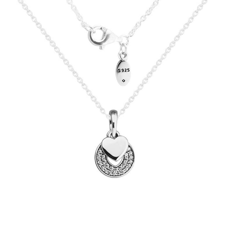 a82d74eb70386 Celebration Hearts Pendant & Necklace 70cm, Genuine 925 Sterling Silver  with Cubic Zirconia Fits to all Pandora Charms, DIY Jewelry Making