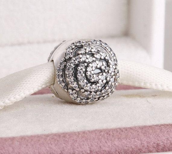 charm clip pandora rose
