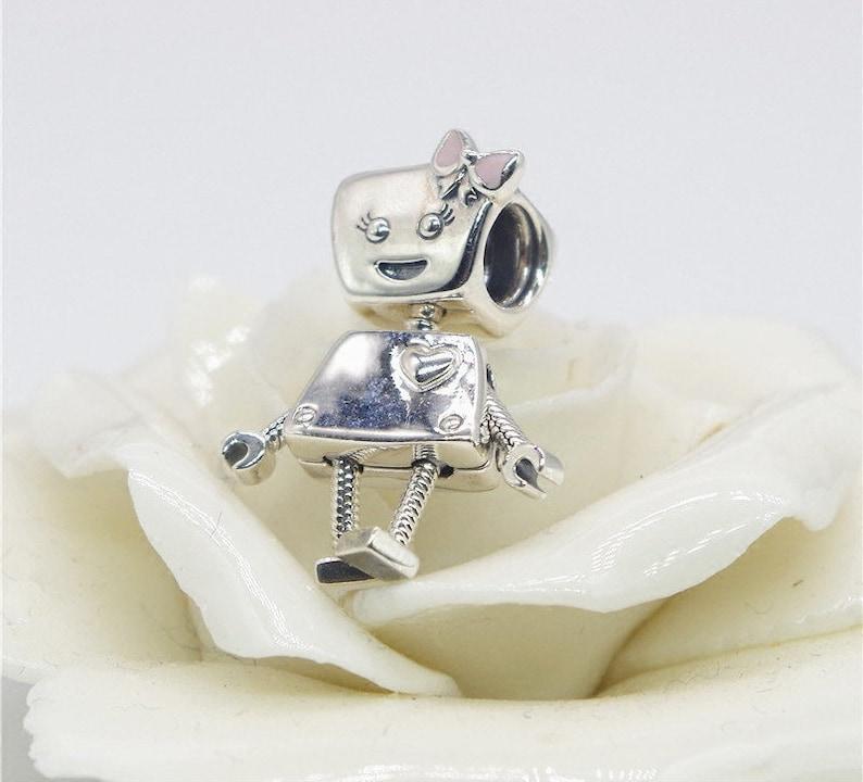 2739ba151 Bella Bot Charm Girl Robot Charm 100% 925 Sterling Silver & | Etsy