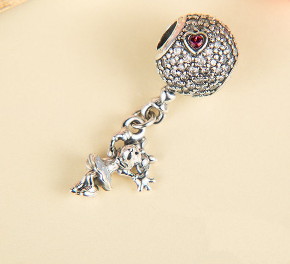 44a4687fb Disney Floating Minnie Dangle Charm 100% 925 Sterling Silver | Etsy