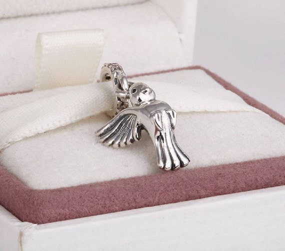 925 Sterling Silver Cute Pigeon Dove Bird Peace Bead For European Charm Bracelet