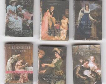 6 boeken van georgette heyer   1-12 - set 3 , dollhouse