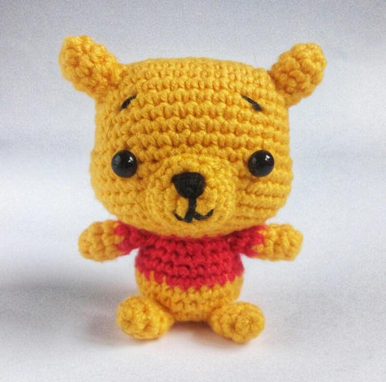 93eeb3f77546 Winnie the Pooh Bear Crochet Teddy Bear Mini Gift for Baby