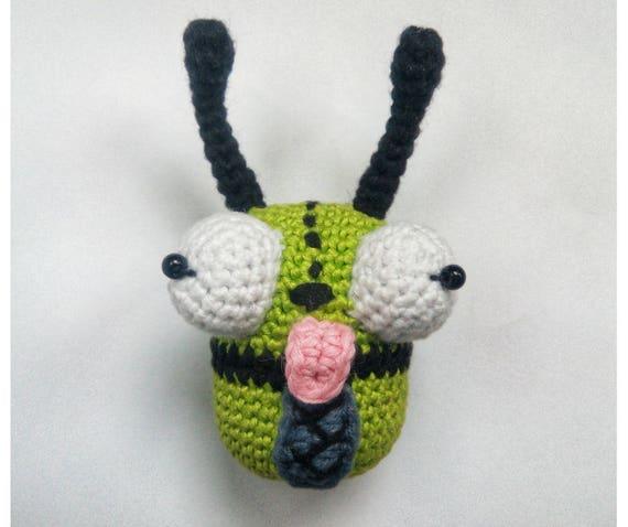 Crochet Monster Gir From Invader Zim Rattle Amigurumi Toys Etsy