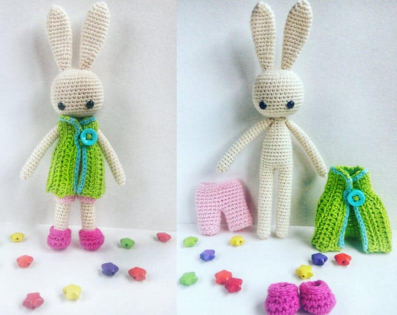 Pretty Bunny amigurumi in pink dress | Easter crochet patterns ... | 631x794