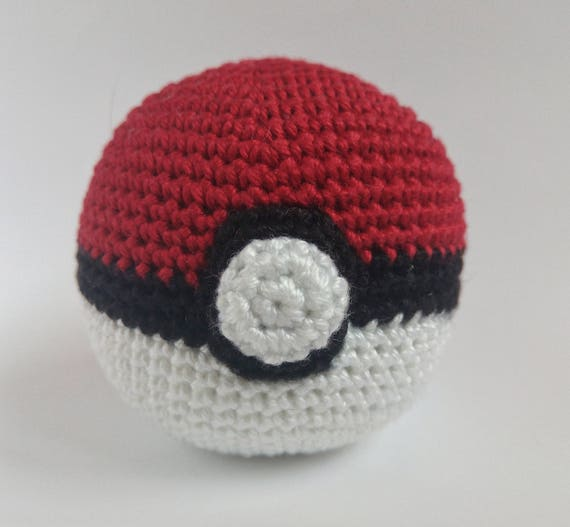 Häkeln Sie Pokemon Ball Gehäkelt Pokeball Monster Poke Ball Etsy