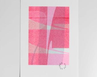Abstract risograph print 13x18cm