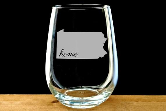 Pennsylvania Drinking Glass Pennsylvania Drinkware Pennsylvania Gift Pennsylvania  Glass