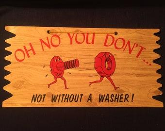 Metal Wall Sign Plaque Art Kitsch Inspirational Funny Joke Toilet Rules Blue