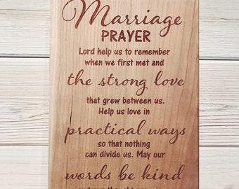 Marriage Prayer Etsy