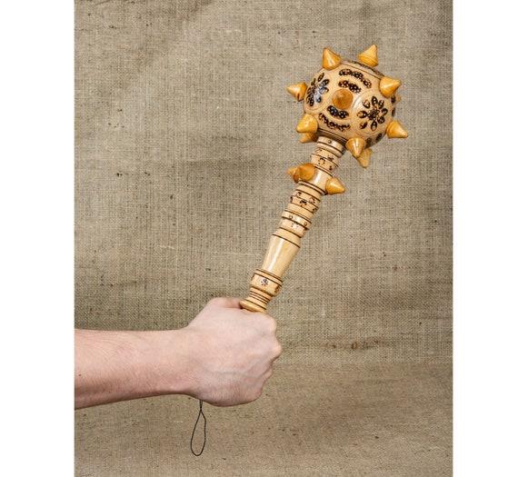 viking armor skyrim cosplay Ukrainian art Mace hand carved wood Ukrainian gifts