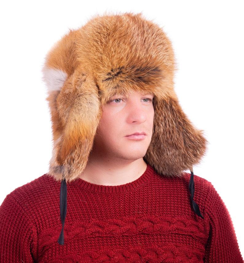 d5c19b9ebc7d3 Men Winter Real Fox fur high quality Hat Russia Ushanka