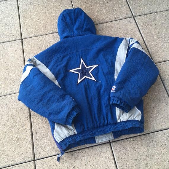 wholesale dealer db4d8 ce649 90s Dallas COWBOYS Pullover Jacket by STARTER / 90s Vintage NFL Football  Hip Hop