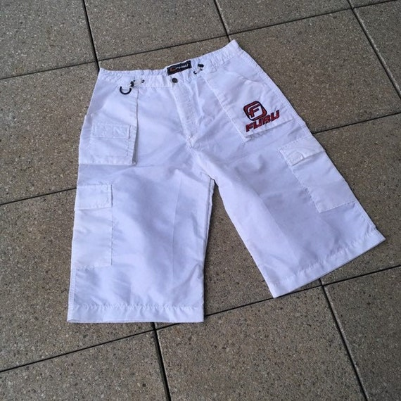 Vintage FUBU Pants / Shorts White Color Small Logo