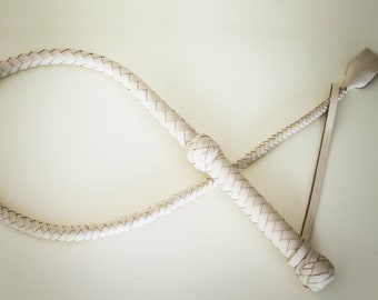 BDSM Handmade Leather Whip with Weaving / Handmade Leather Whip One Tailed Whip BDSM toys
