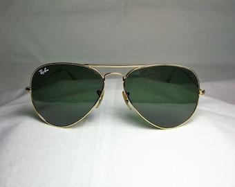 Ray Ban Caravan 58 mm sunglasses 22kt gold plated crystal | Etsy