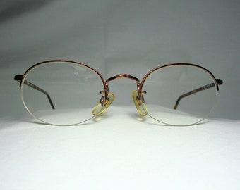 82606aa8573c Giorgio Armani, eyeglasses, half rim, round, oval, frames, men's, women's,  super vintage