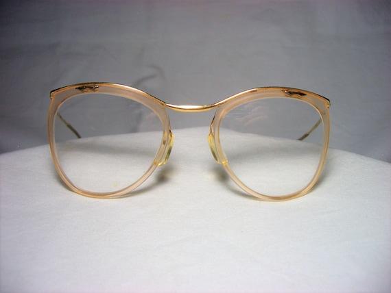 7324610ed9 Amor eyeglasses oval round 18 kt gold filled frames