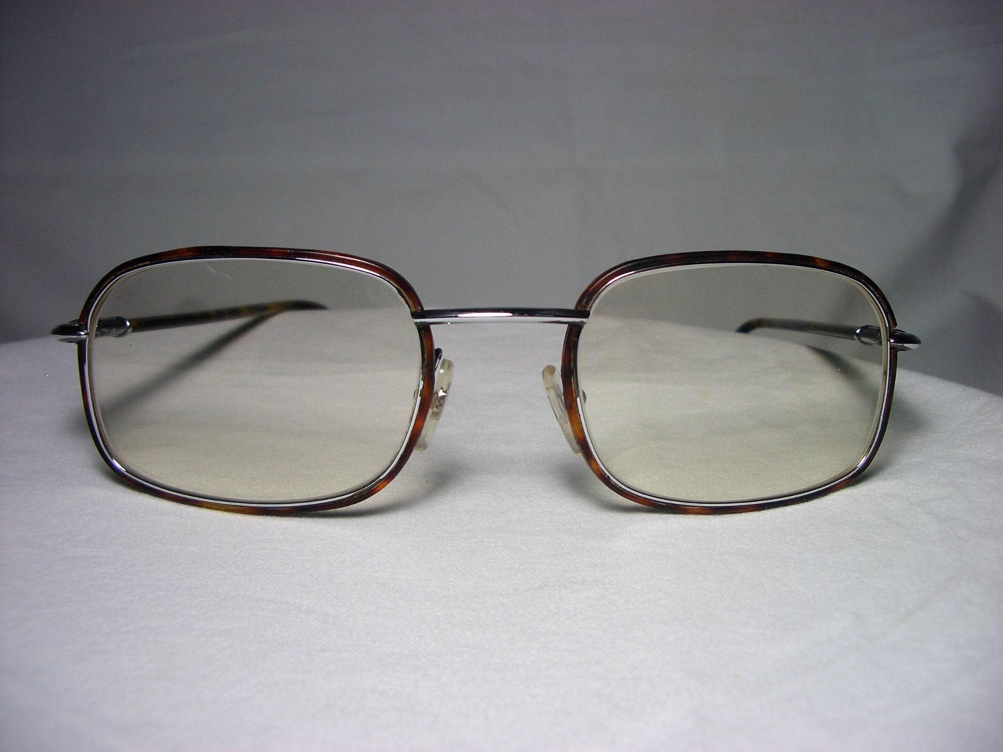 5b8112bf800 Christian Dior Monsieur Silver square oval eyeglasses