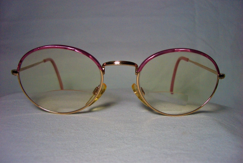 bae84a1998e Marcolin eyeglasses 22kt gold plated oval round frames