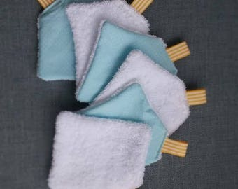 Washable wipes eco white and blue