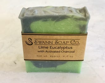 Lime Eucalyptus with Activated Charcoal Handmade Soap