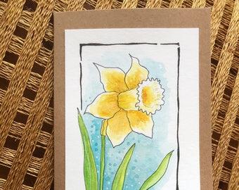 Spring Flower Card - Daffodil - Original Artwork