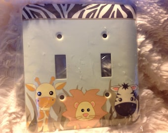 Double light switch cover Zoo