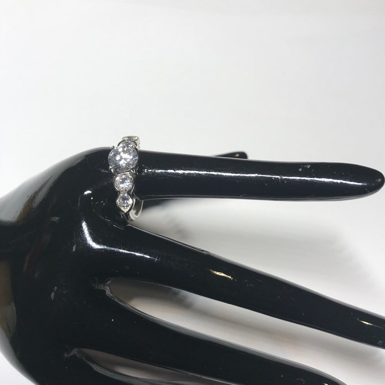 CZ 925 China Sterling Silver multistone ring  US size 7