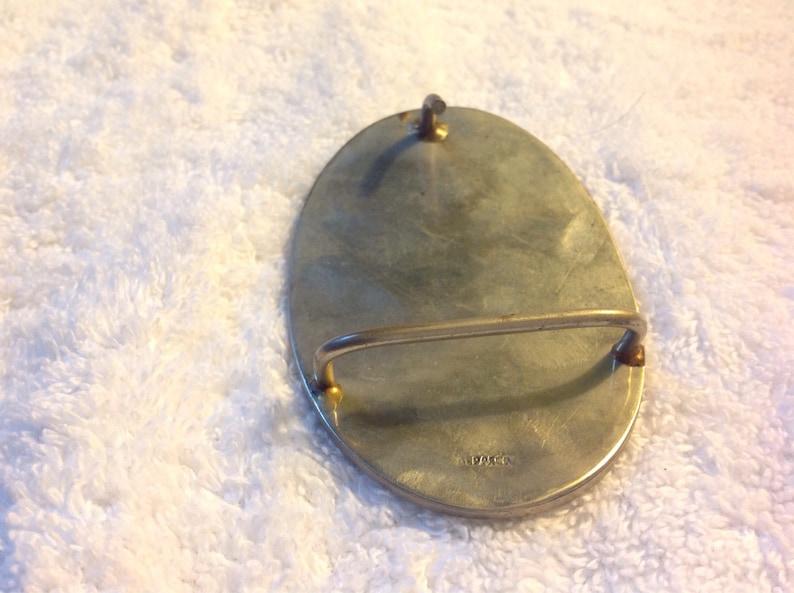 Vintage oval mother of pearl Belt Buckle