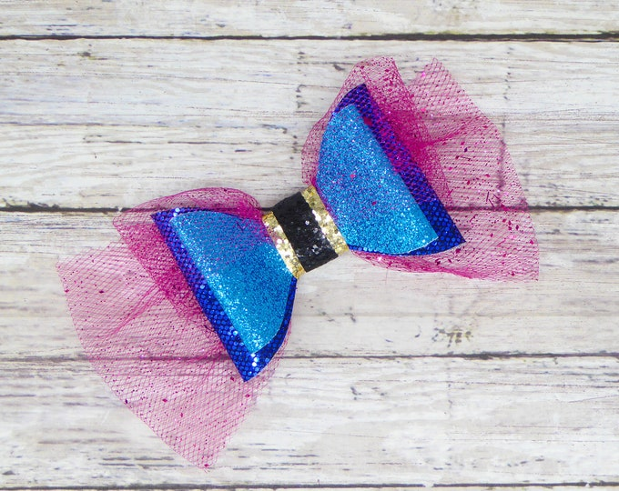 Frozen Anna Glitter and Tulle Hair Bow