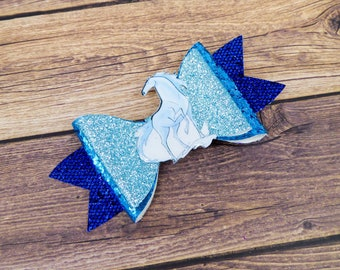 Frozen 2 Nokk Water Horse Glitter Hair Bow