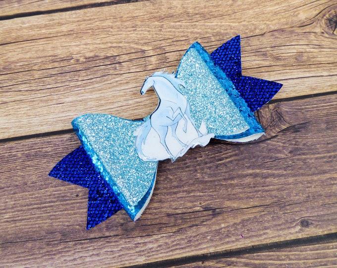 Frozen 2 Nokk Water Horse Glitter Hair Bow