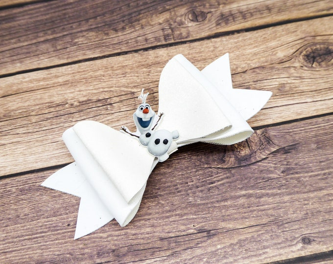 Frozen 2 Olaf Glitter and Leather Hair Bow