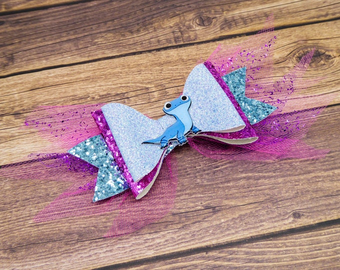 Frozen 2 Bruni Salamander Glitter and Tulle Hair Bow