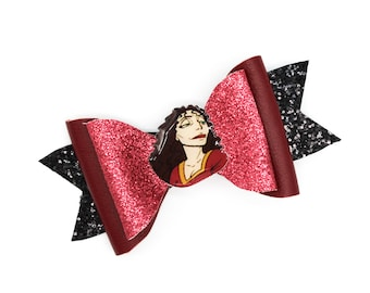 Mother Gothel Tangled Glitter Hair Bow