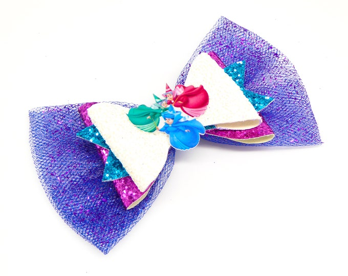Fairy Godmothers Sleeping Beauty Glitter Hair Bow
