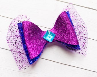 Frozen 2 Elsa Disney Inspired Glitter Hair Bow