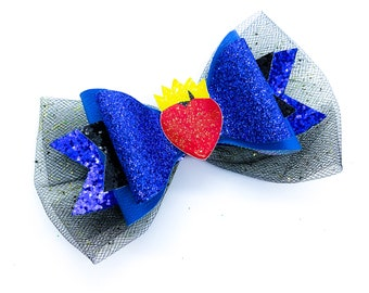 Evie Disney Inspired Descendants 3 Glitter Hair Bow