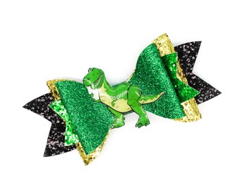 Toy Story Rex Glitter Hair Bow