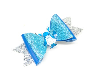Glaceon Pokemon Glitter Hair Bow