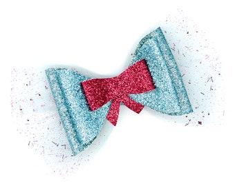 Fairy Godmother Cinderella Glitter Hair Bow